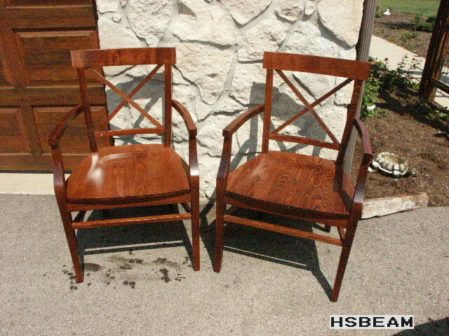 2 pottery barn pb stefano dining table room kitchen armchair chairs mahogany ebay. Black Bedroom Furniture Sets. Home Design Ideas