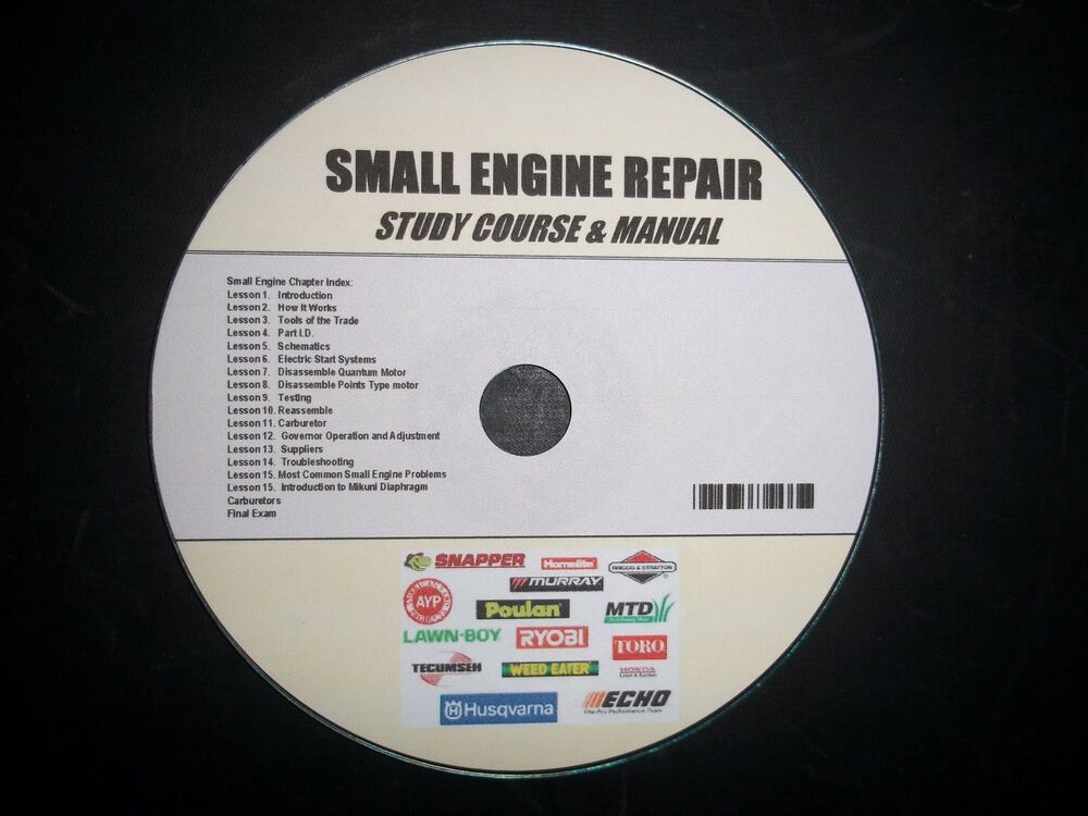 small engine repair course and study guide ebay
