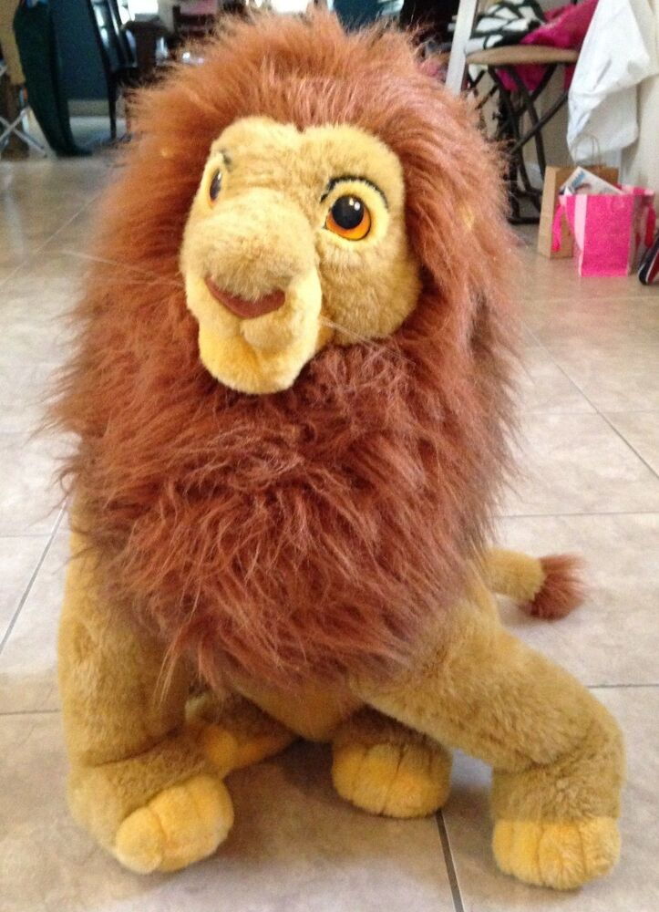 official disney exclusive huge mustafa lion king plush stuffed animal 27 clean ebay. Black Bedroom Furniture Sets. Home Design Ideas