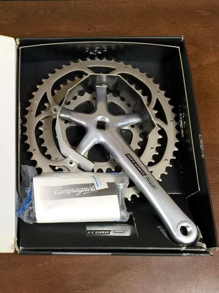 Nos Campagnolo Record Triple Crankset 10 Speed 172 5mm