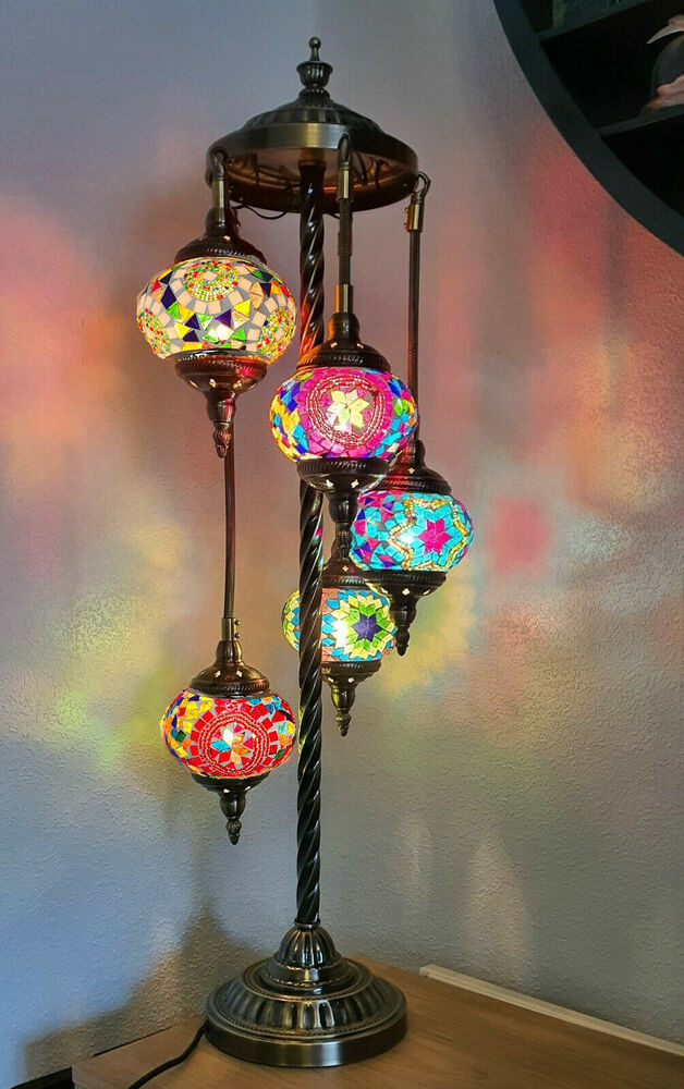 Lamparas Color Glass Led Table Lamp Hand Made Tiffany Desk: Stunning Turkish / Moroccan Mosaic Glass Bronze Floor