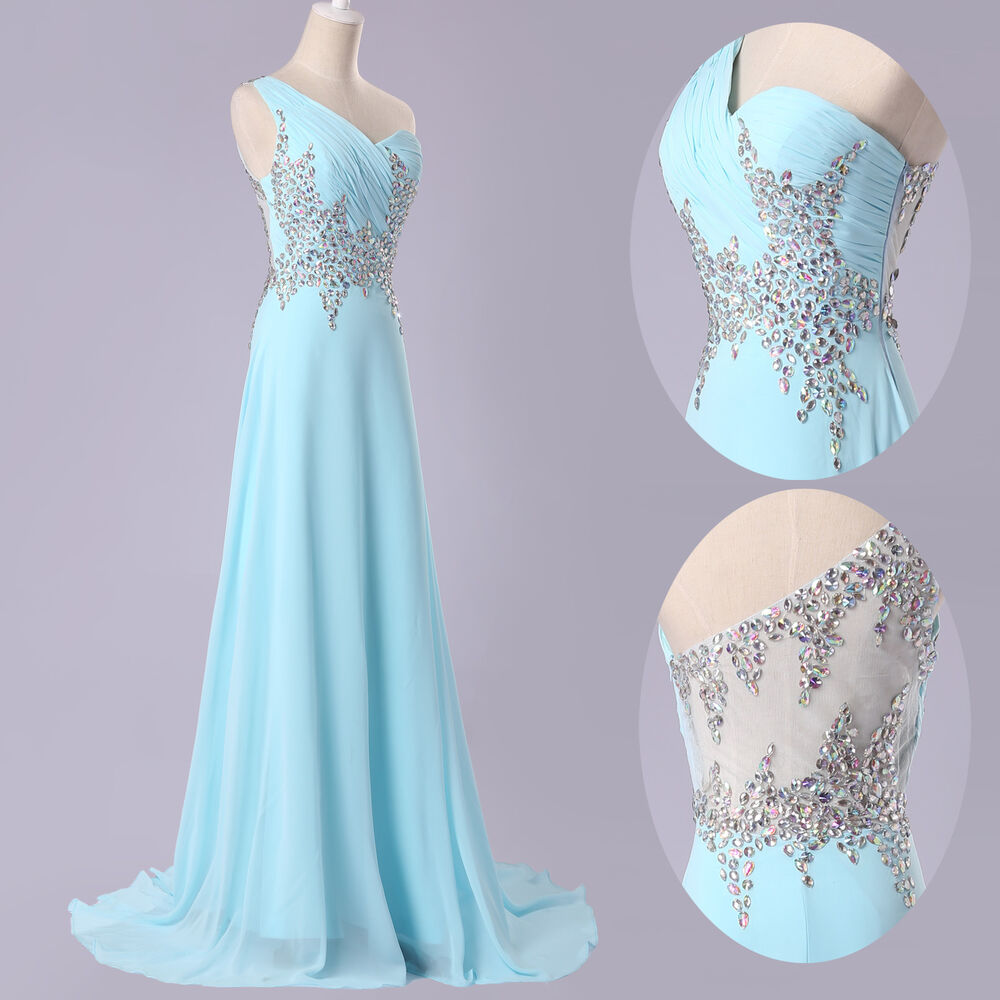 Beaded long prom dresses graduation wedding bridesmaid for Long dress for wedding party