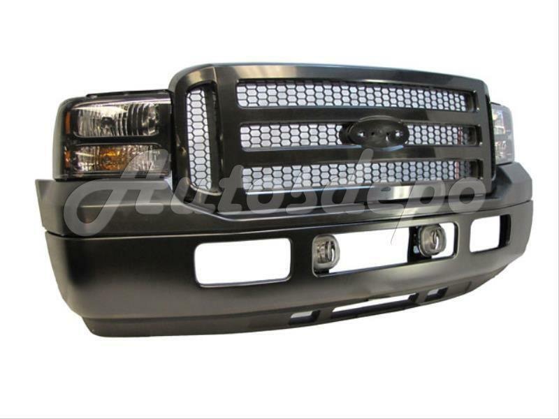 2007 Ford Excursion >> 05-07 F250 F350 Healey Davidson Front Bumper Black + Grille Blk Headlight 8Pcs | eBay