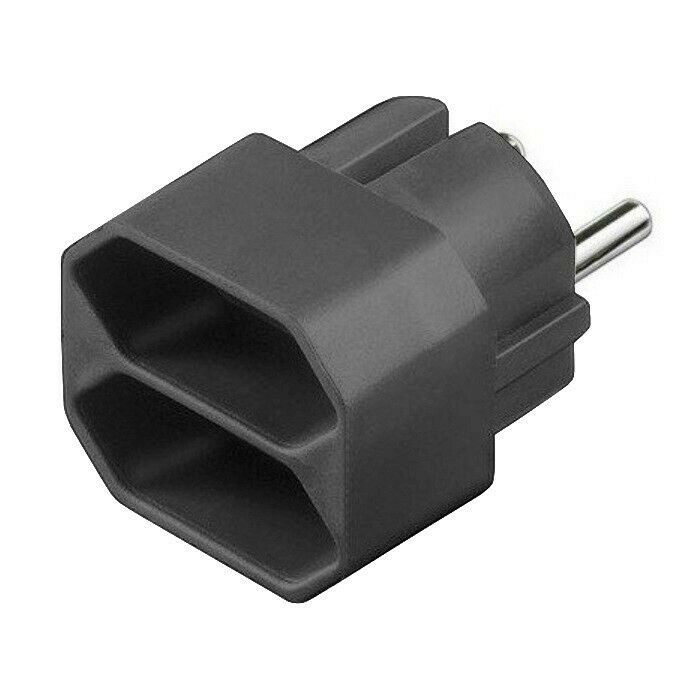 gao 2 fach euro stecker schwarz verteiler steckdose mehrfachstecker adapter ebay. Black Bedroom Furniture Sets. Home Design Ideas