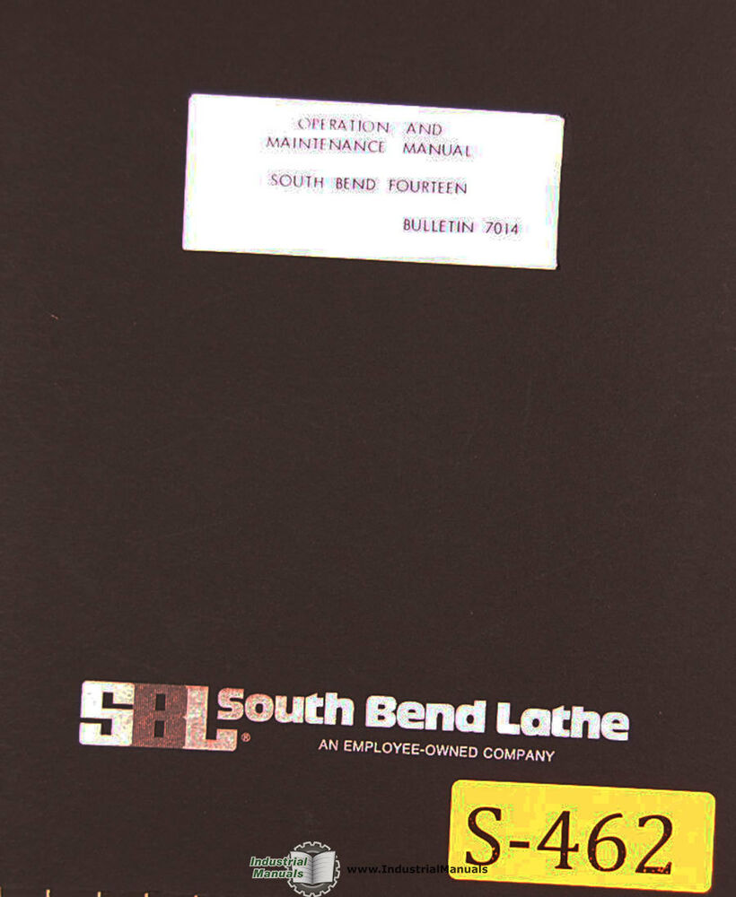 South Bend Fourteen Lathe Operations Maintenance Parts Electrical Wiring Diagram Manual 1979 Ebay