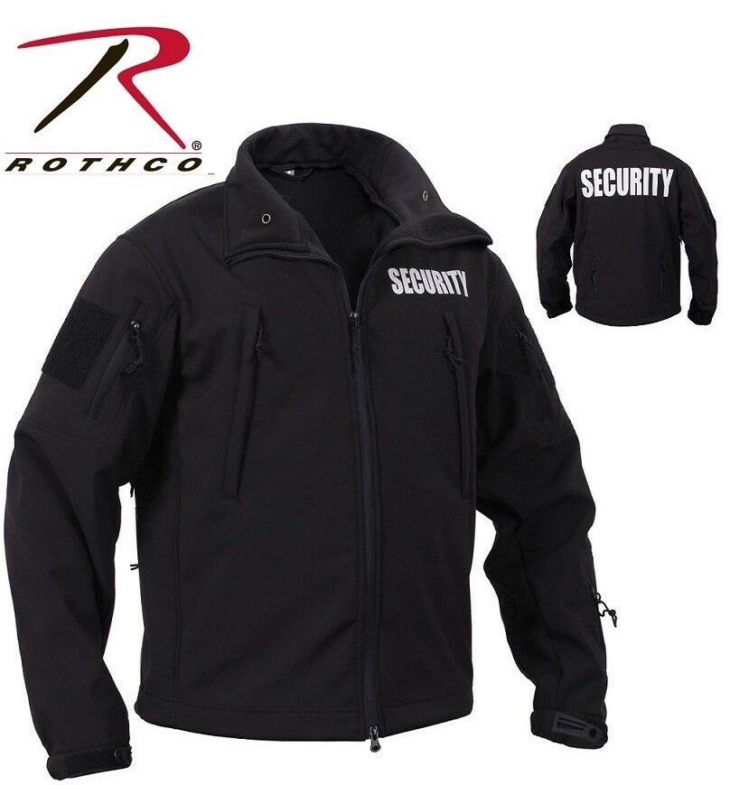Black Special Ops Tactical Soft Shell Security Jacket Law ...