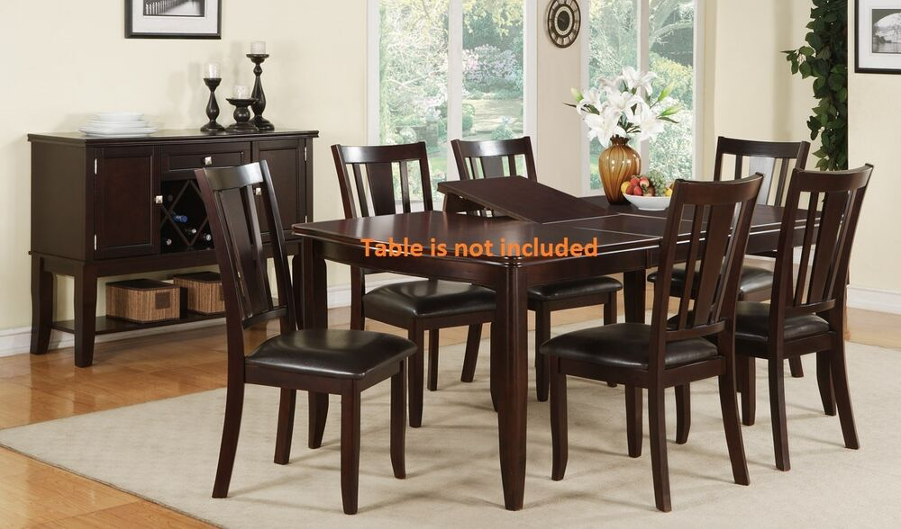 dining room dining chairs set of 4 or 6 chairs brown wood finish