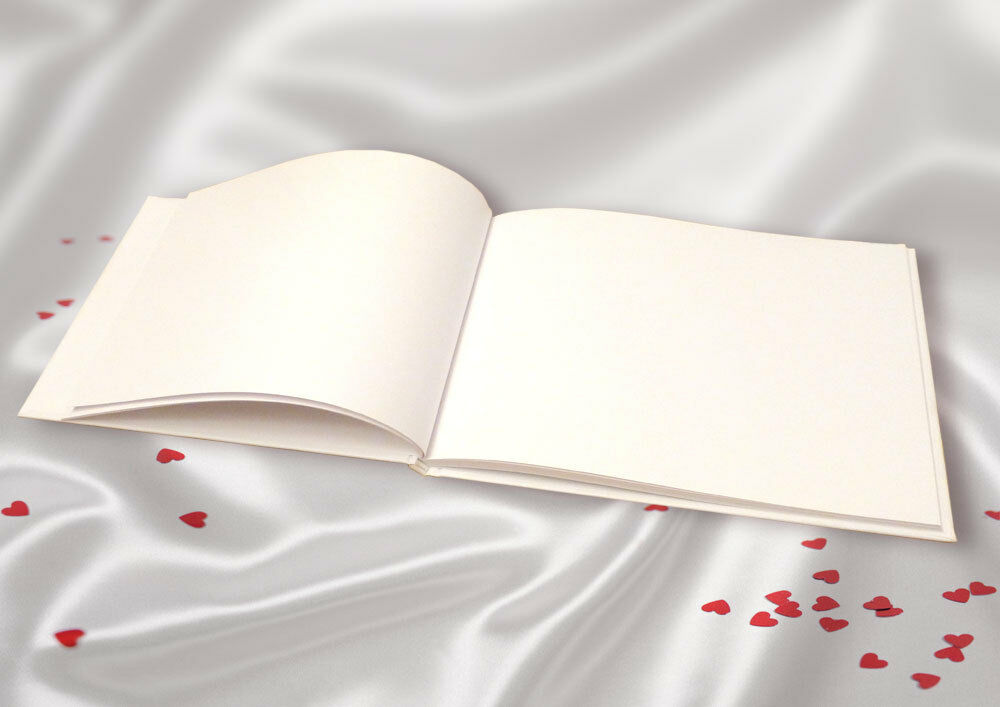 Plain Blank White Linen Guest Book DIY Wedding Guest EBay