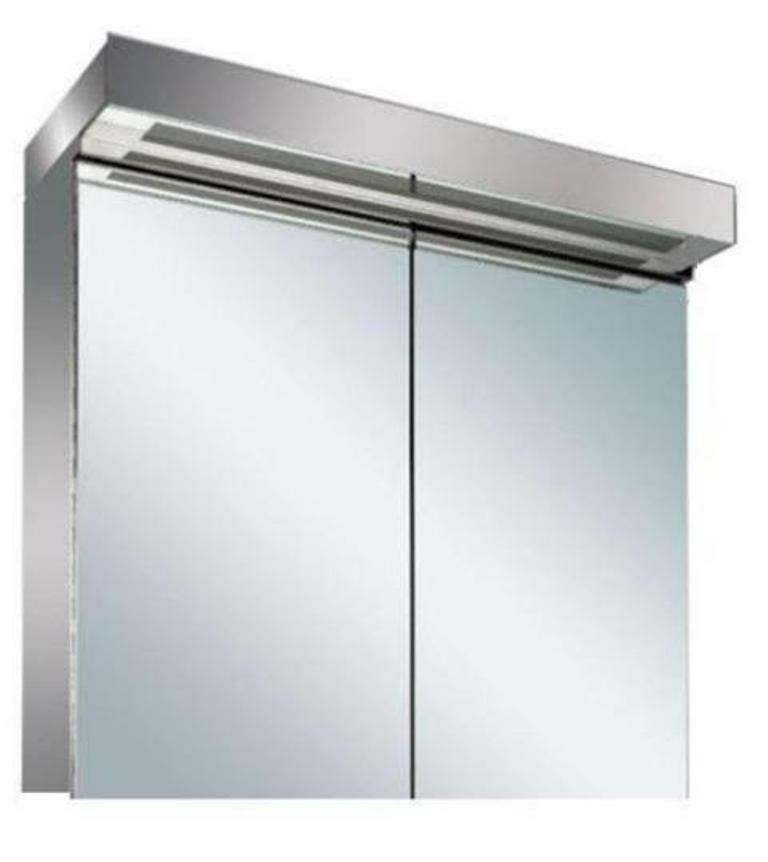 New Led Illuminated Bathroom Mirror Cabinet With On Off Sensor Shaver Socket Ebay