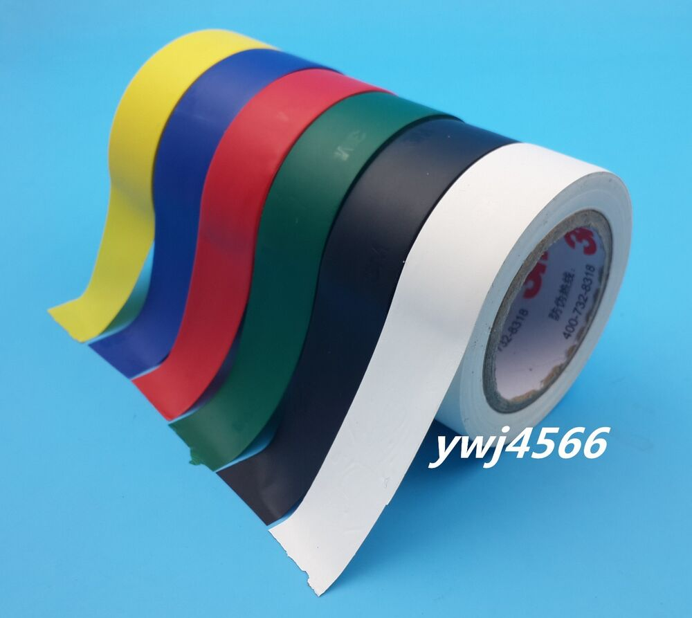 6 Kind Color 3M 1500 Vinyl Electrical Tape Insulation Adhesive Tape | eBay