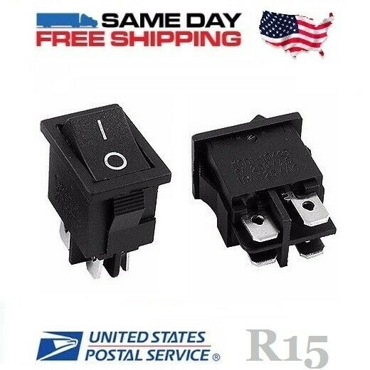2 X Dpst Double Pole Single Throw 4 Pin On Off 10amp