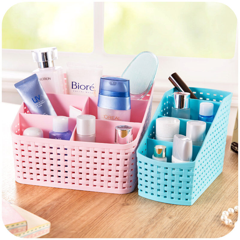 Cute desk organizer jewelry stationery makeup cosmetic - Makeup organizer desk ...