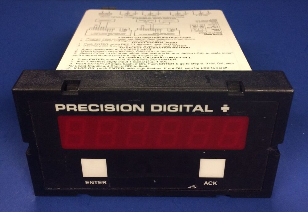 60 Hertz Frequency Meter : Precision digital universal process meter pd
