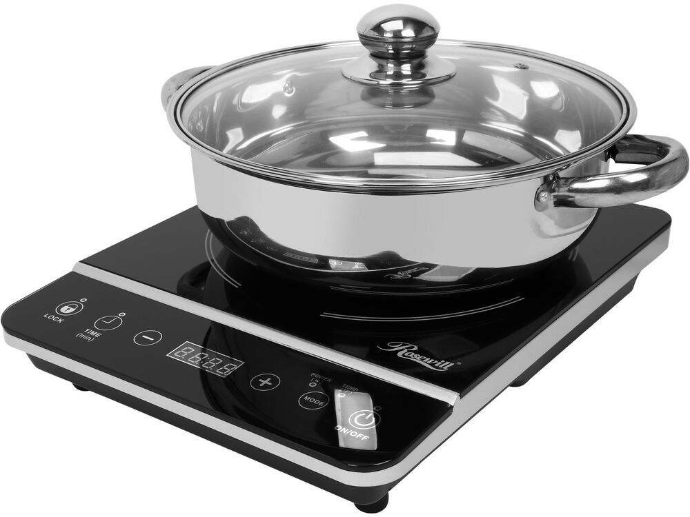 Portable Induction Cooker ~ Rosewill watt portable induction cooker cooktop with