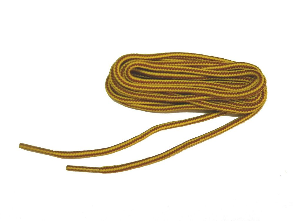 2 pair lot heavy duty bootlaces shoelaces gold