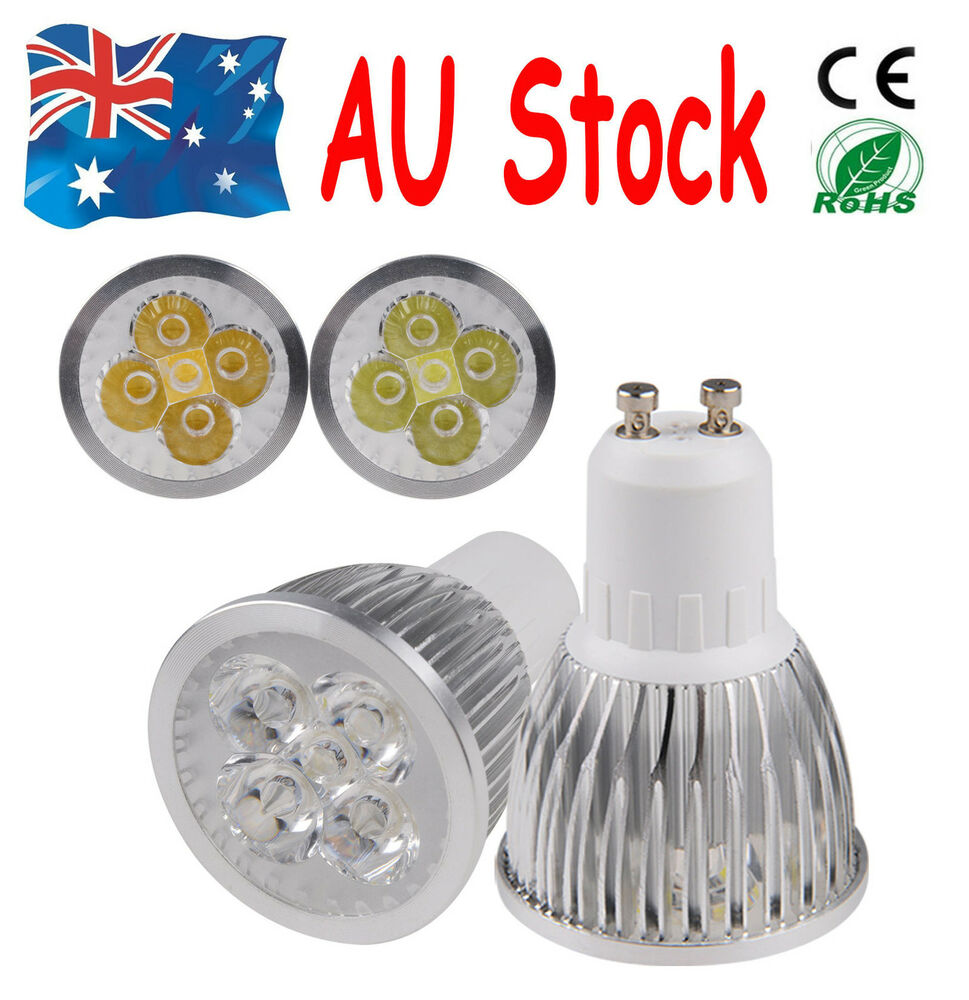 new 10pc12w 4x3w cool white led 240v gu10 downlight globe. Black Bedroom Furniture Sets. Home Design Ideas