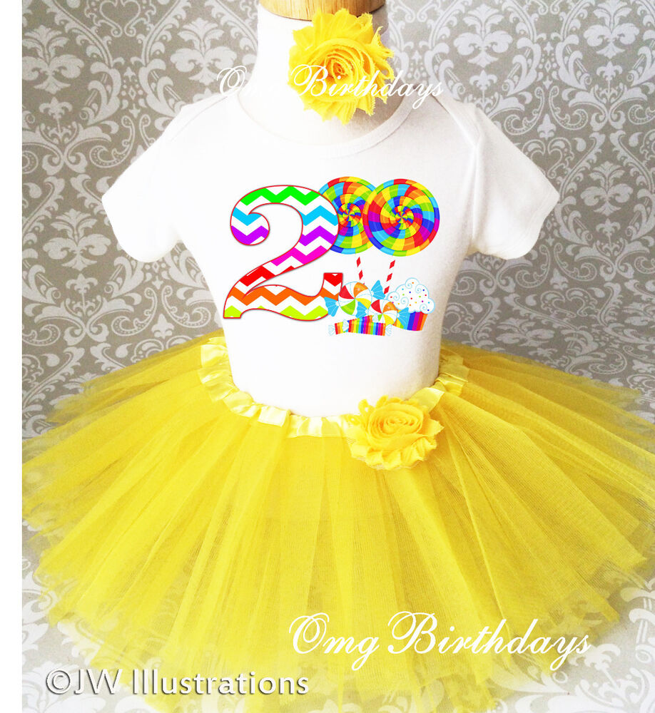 Candyland Candy Sweet 2nd Second Birthday Shirt Tutu