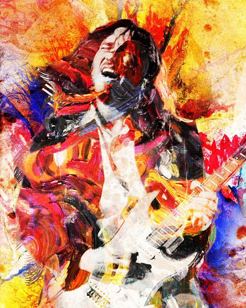 john frusciante art print red hot chili peppers canvas frusciante painting ebay. Black Bedroom Furniture Sets. Home Design Ideas