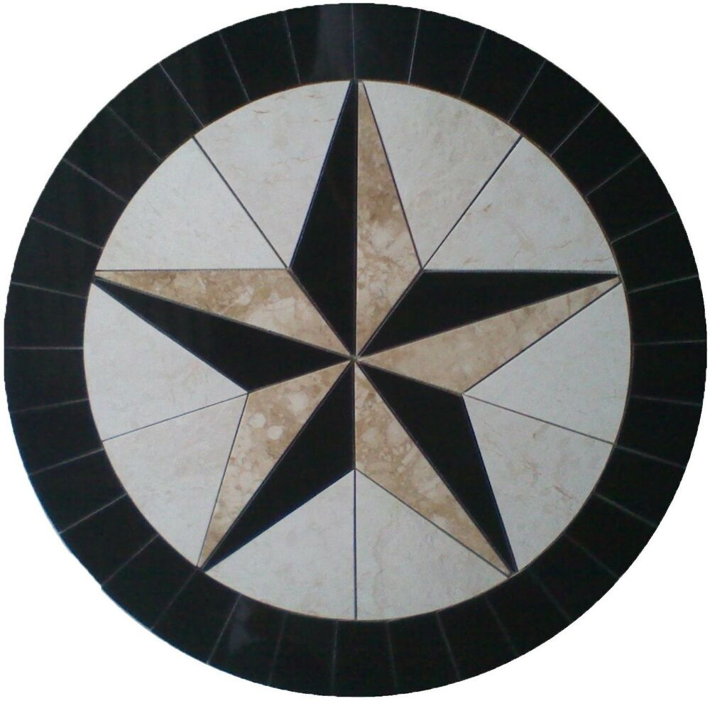Compass Rose Floor Tile : Floor marble round medallion texas star compass rose tile