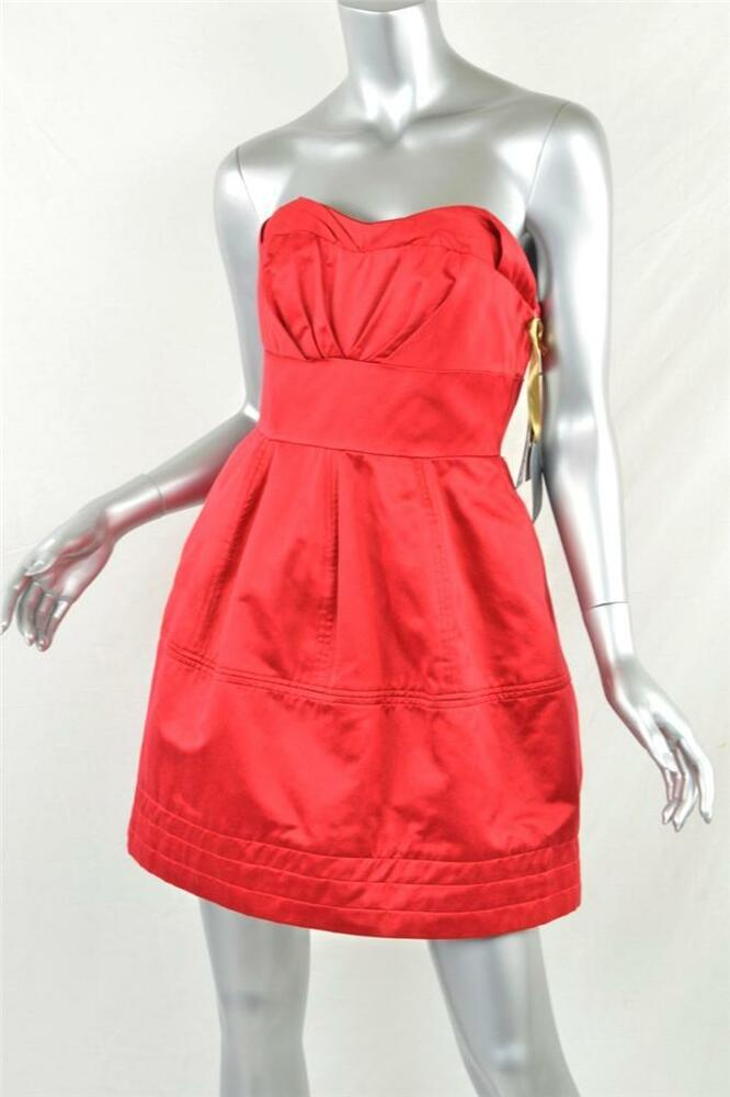 Zac Posen For Target Womens Red Strapless Mini Above Knee