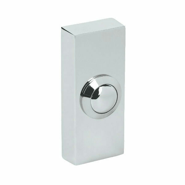Byron 2204bc surface door bell push highly polished for Door bell push