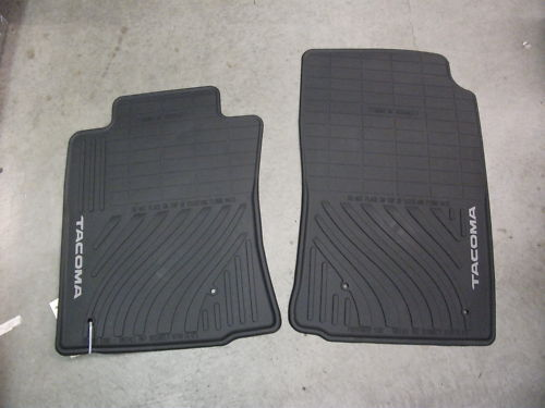 toyota tacoma front all weather floor mat set new pt908. Black Bedroom Furniture Sets. Home Design Ideas