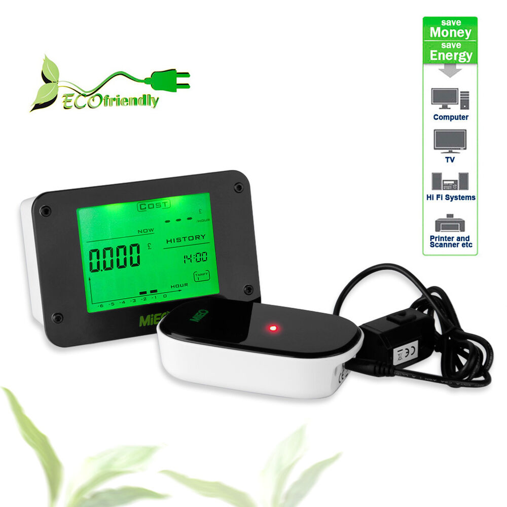 Wireless Power Monitor : Wireless electricity monitor power meter home electric