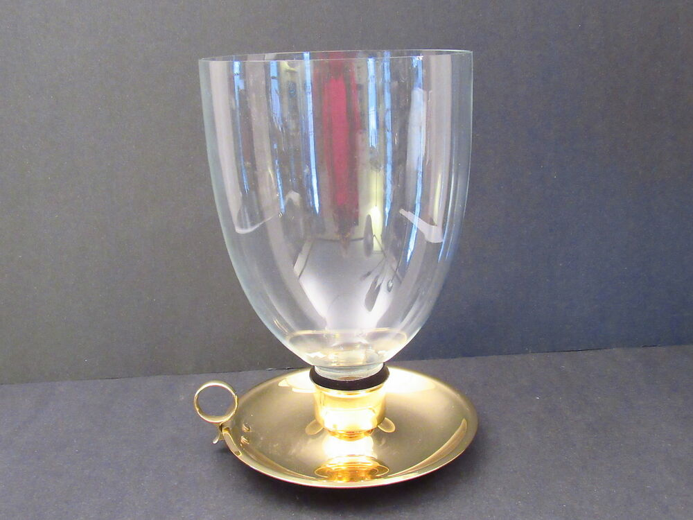 Baldwin Brass W Crystal Glass Chimney Hurricane Candle