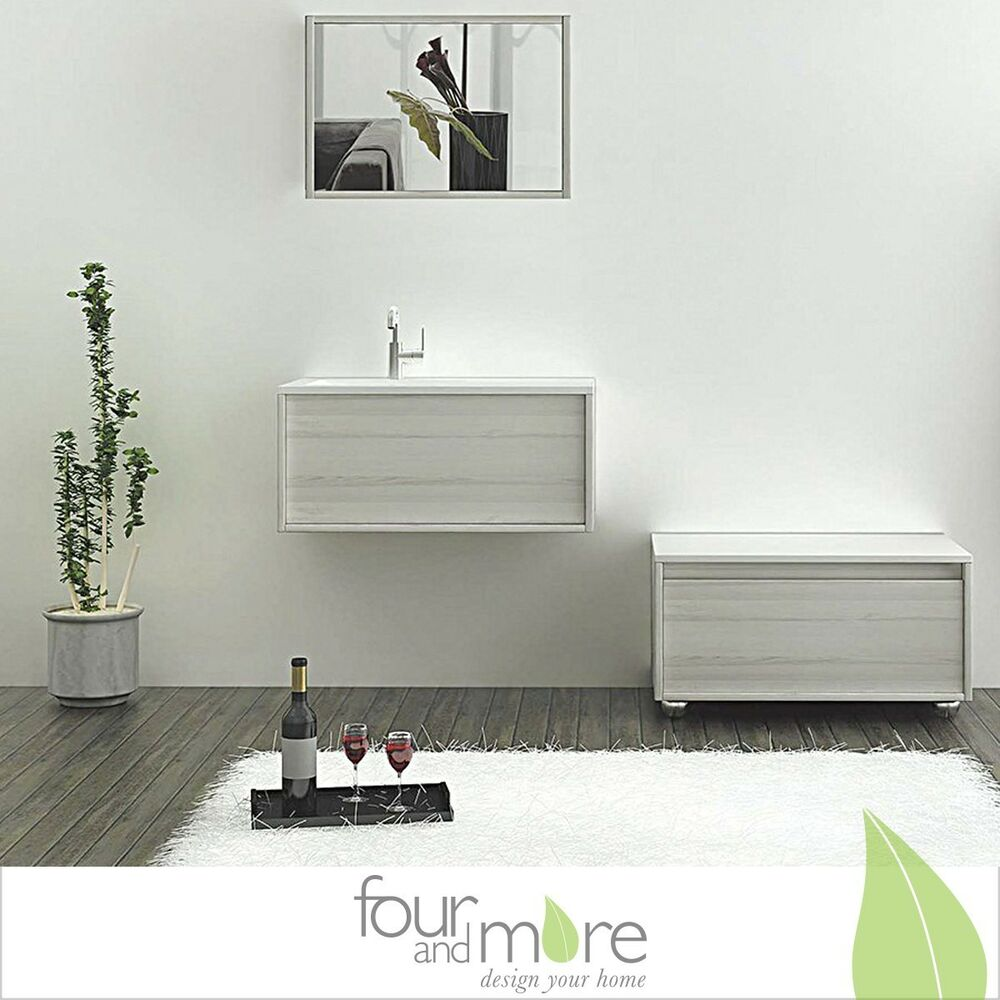 badezimmerserie bern schrank inkl waschbecken mit unterschrank 80 cm breite ebay. Black Bedroom Furniture Sets. Home Design Ideas