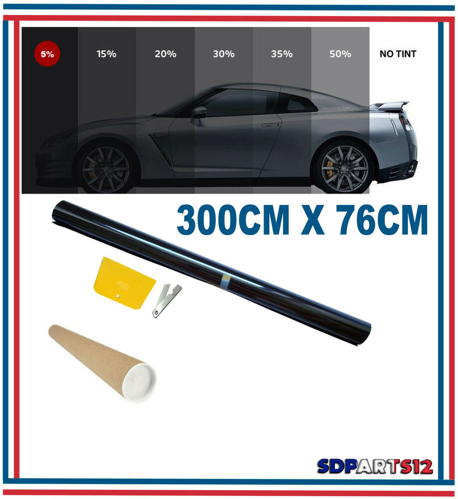 3m 76cm film teint solaire noir pour vitre fen tre velux voiture batiment 5 ebay. Black Bedroom Furniture Sets. Home Design Ideas