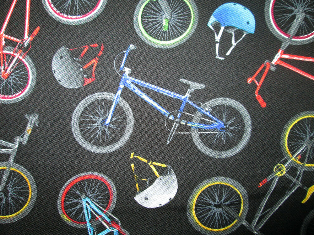 BMX RACING BIKE BICYCLE BLACK COTTON FABRIC BTHY | eBay