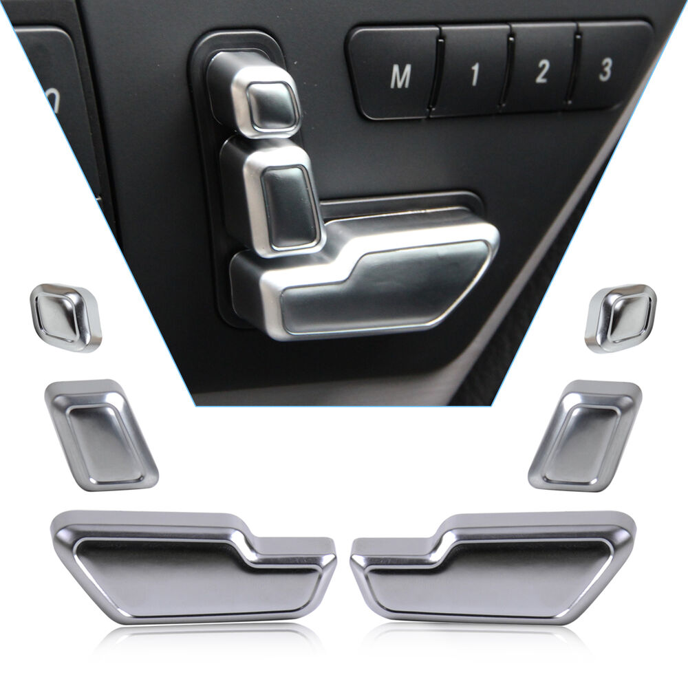 Chrome door seat adjust button switch cover trim for for Mercedes benz gl450 chrome accessories