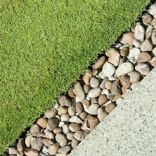 4 Pebble Border Garden Edging Strips Stone Landscape Paths