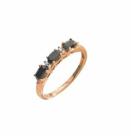 18Ct Gold Sterling Silver 1ct Sapphire & Diamond Trilogy ...