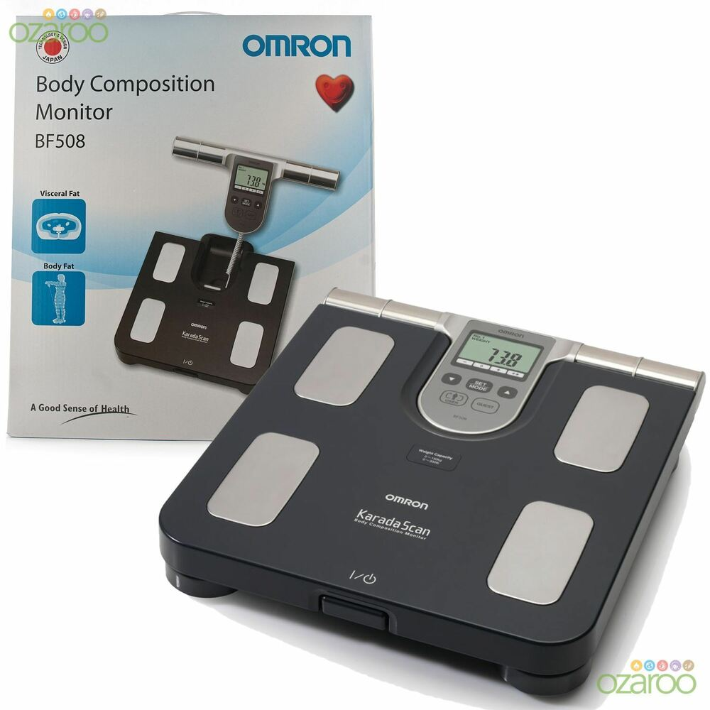 Omron Bf508 Body Fat Composition Sensor Monitor Bmi Home