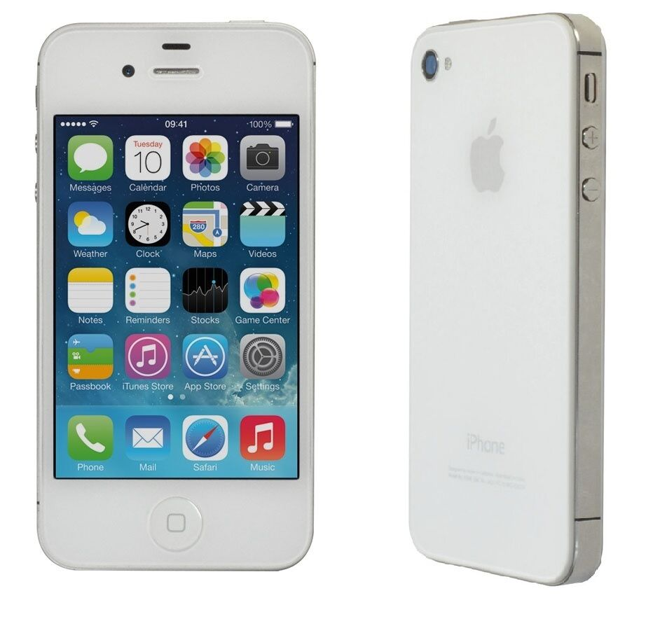 iphone 4 white apple iphone 4 8gb white talk smartphone clean 10896