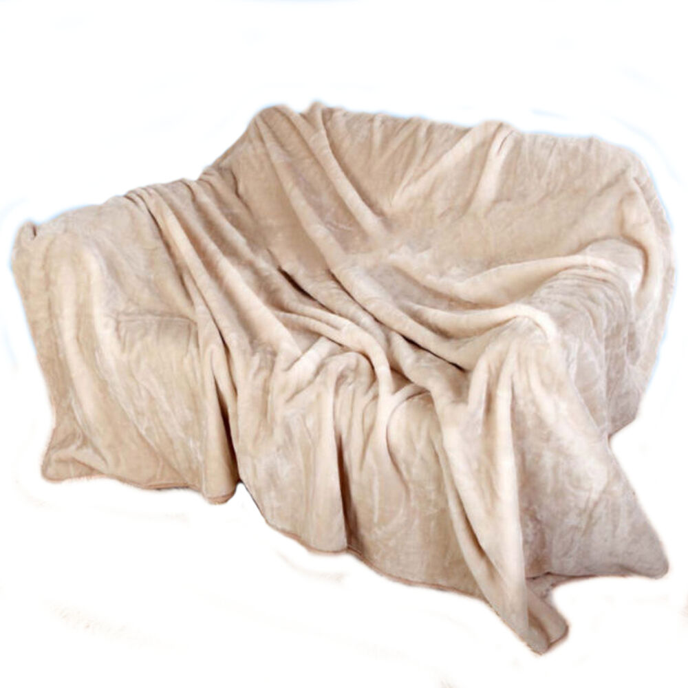 Fur faux throw mink throws sofa blanket bed size double for Fur throws for sofas