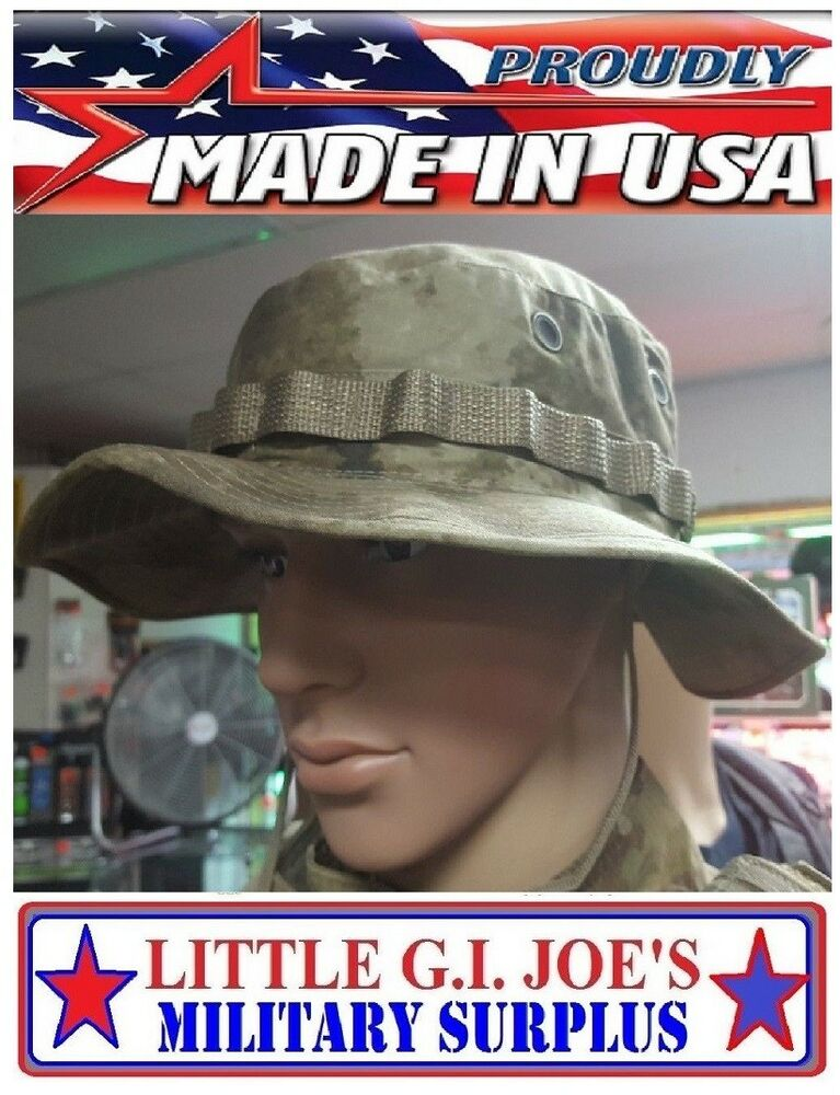 Issue Tactical AU ATAC Camouflage Boonie Busch Hat Govt Contractor 959-317   886ecc3d2370