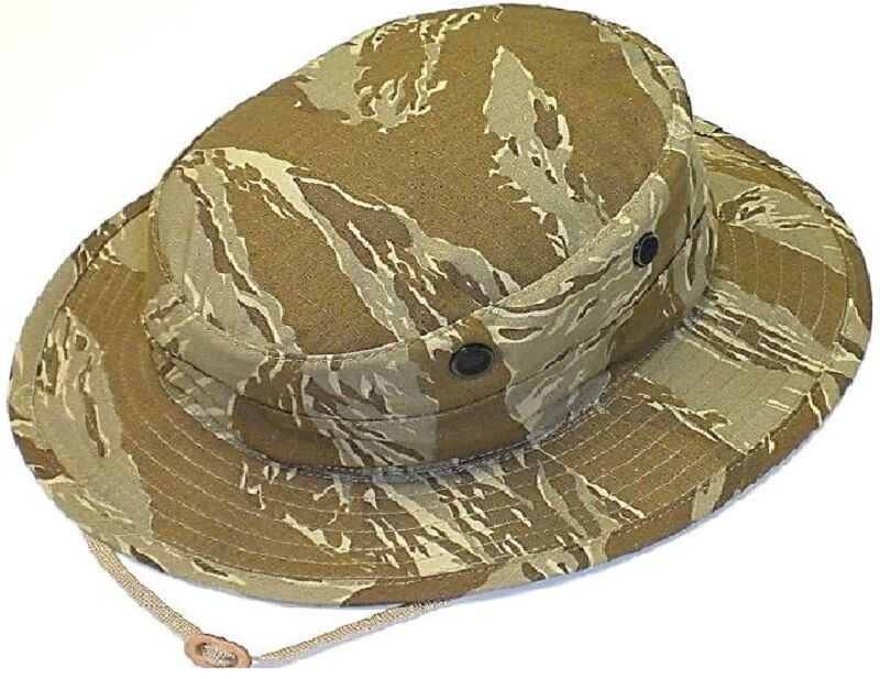 f91ab4ddf21 Details about Special Forces Tactical Desert Tiger Stripe Camo Boonie Busch  Hat US Made 955