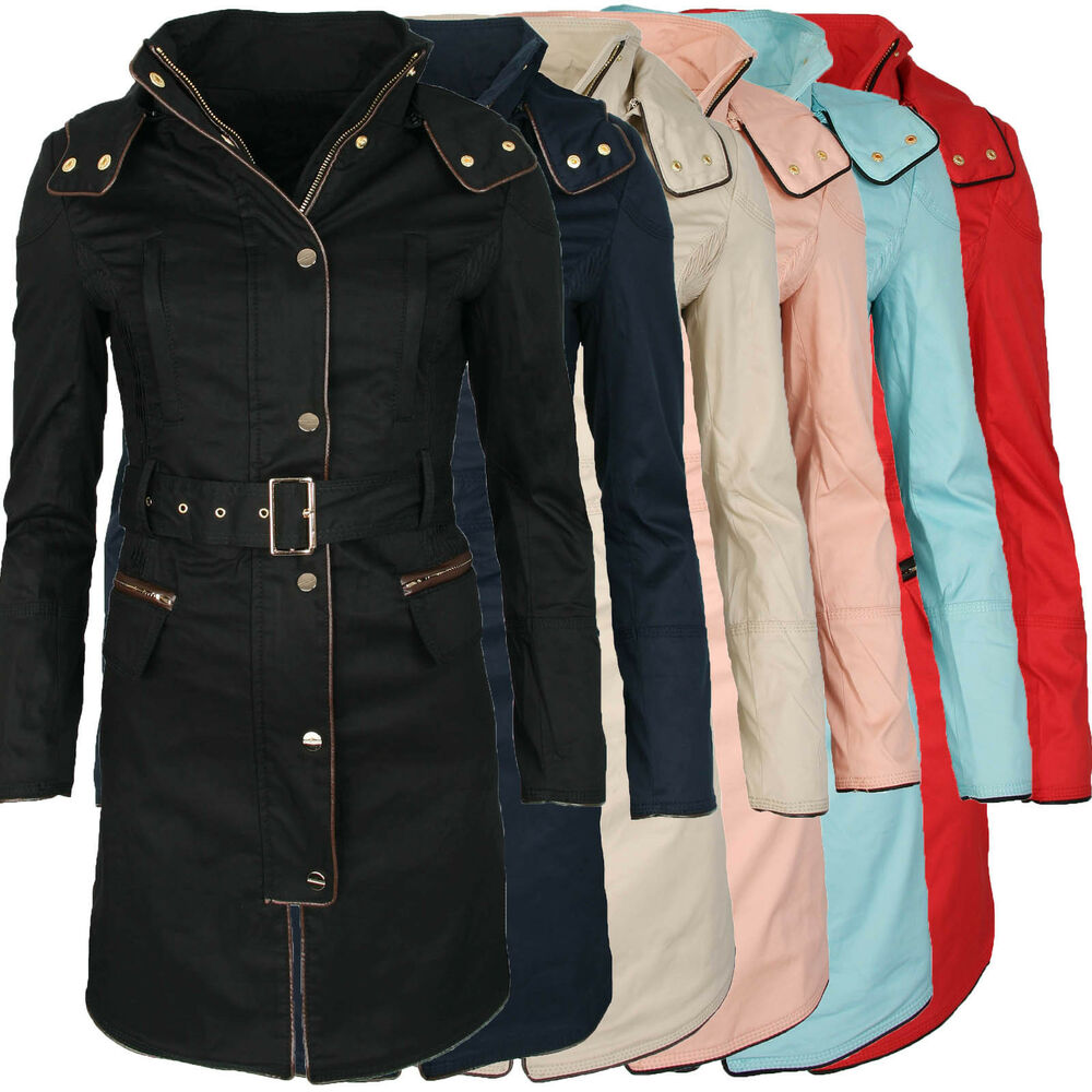 sehr edle damen bergangs jacke sommer parka mantel blazer tailliert neu b105 ebay. Black Bedroom Furniture Sets. Home Design Ideas