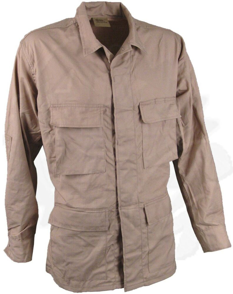 LOT OF 5 New Khaki/Tan BDU Coats Ripstop Nylon Safari ...