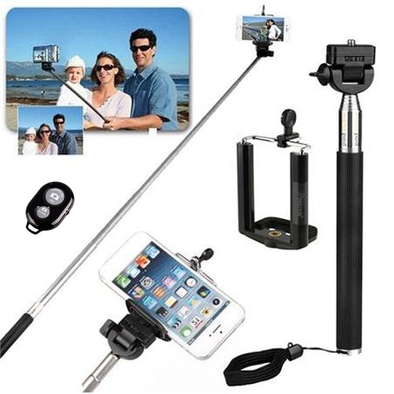 professional self portrait selfie stick pole monopod iphone 6 galaxy s5 note. Black Bedroom Furniture Sets. Home Design Ideas