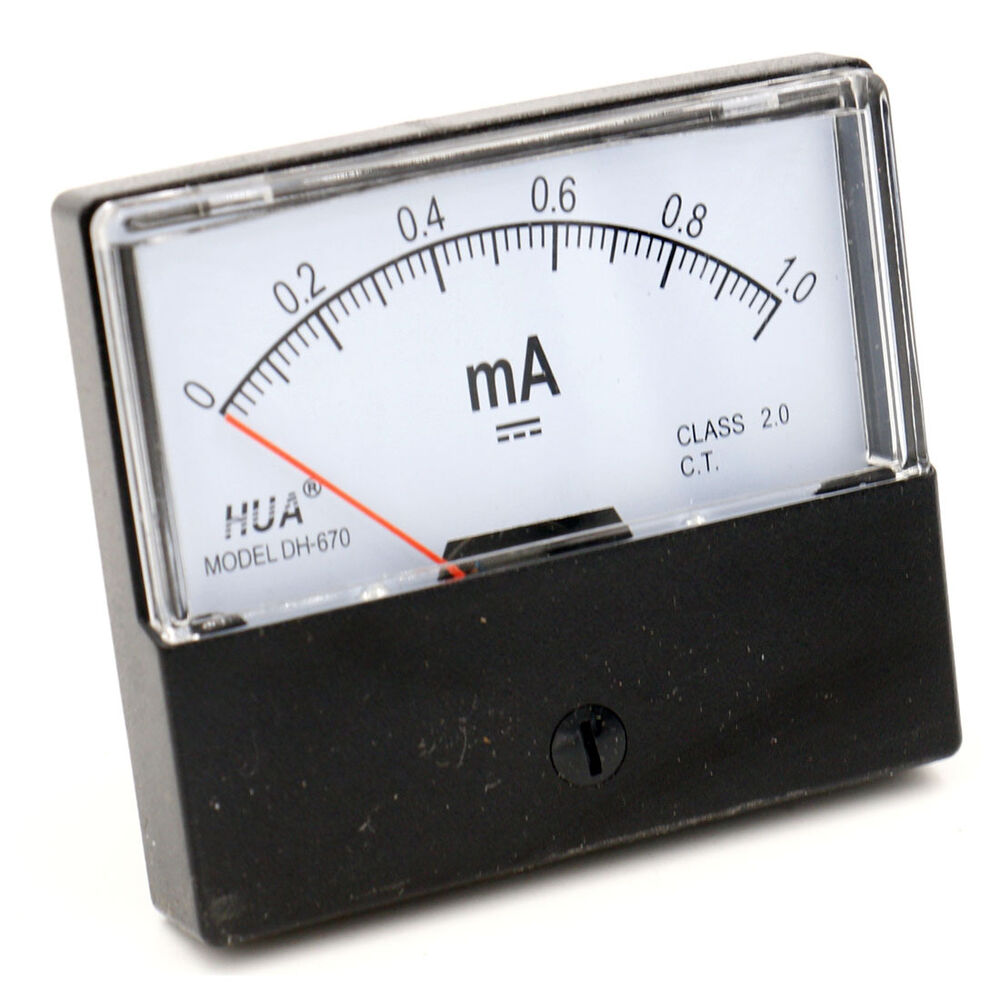 Analog Panel Meter : Dh dc ma clear analog panel meter ammeter gauge ebay