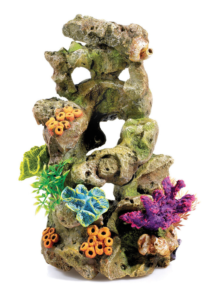 classic coral on lava rock 60l biorb aquarium ornament