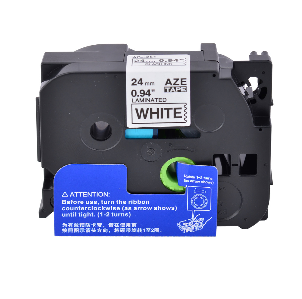 1 pk black on white label tape compatible for brother tz tze 251 1 24mm p touch ebay. Black Bedroom Furniture Sets. Home Design Ideas