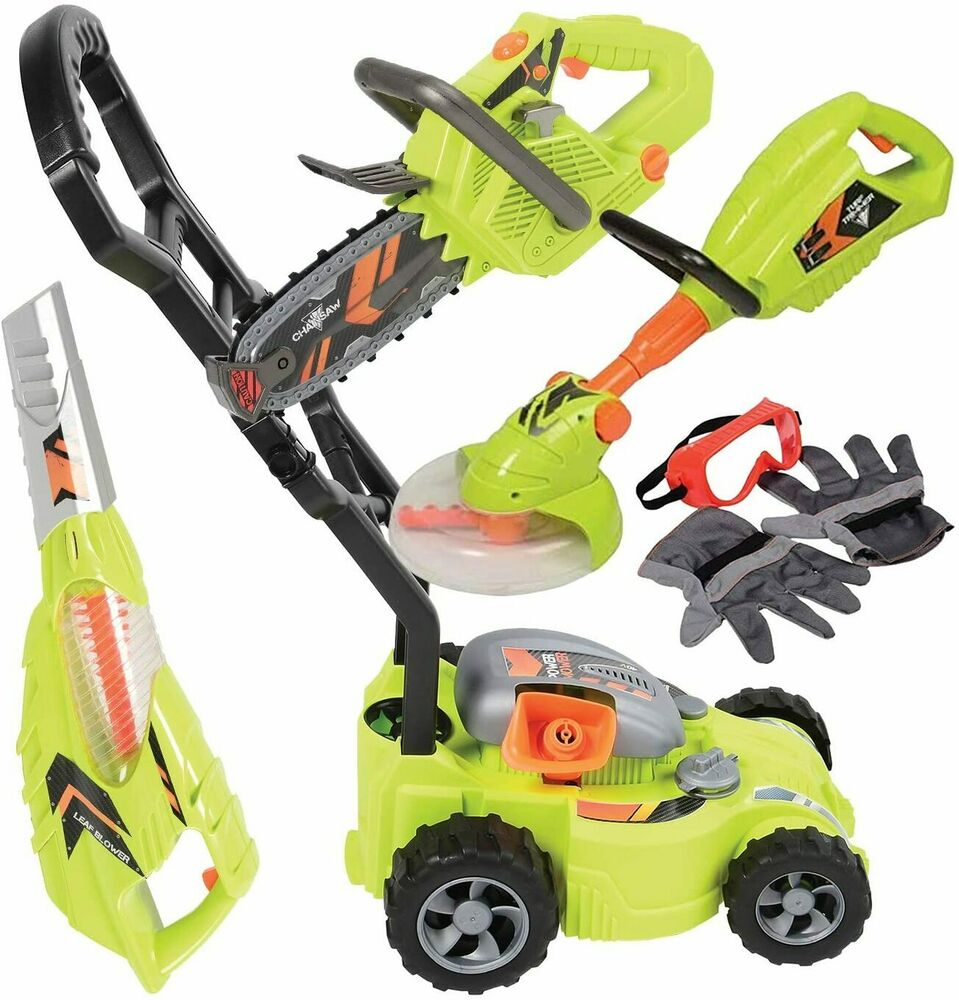Toy Lawn Mower : Kids pretend toy lawn tool set sounds action leaf blower