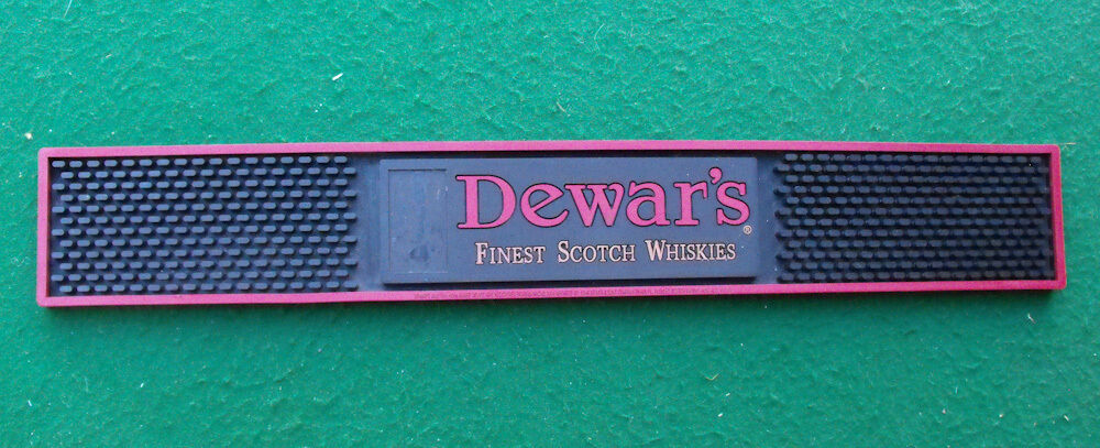 Dewars Finest Scotch Spill Rubber Bar Drink Mat Used In