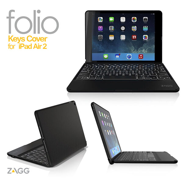 Zagg Bluetooth Keyboard Ipad Air Bluetooth Earpiece Brain Cancer Bluetooth Car Kit Honda Jazz Bluetooth Handsfree Car Kit Big W: ZAGG Folio Backlit Hinged Bluetooth Keyboard For Apple