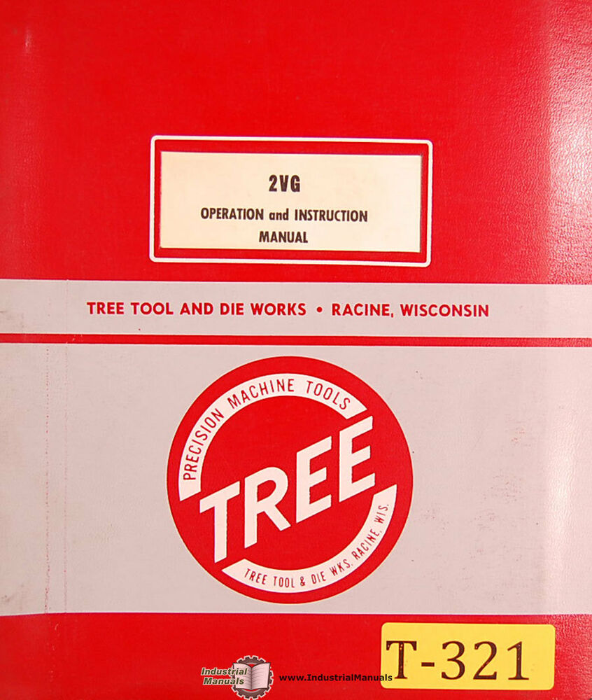Tree 2vg Mill Operations And Parts Manual 1965 Ebay Bridgeport Milling Machine Wiring Diagram