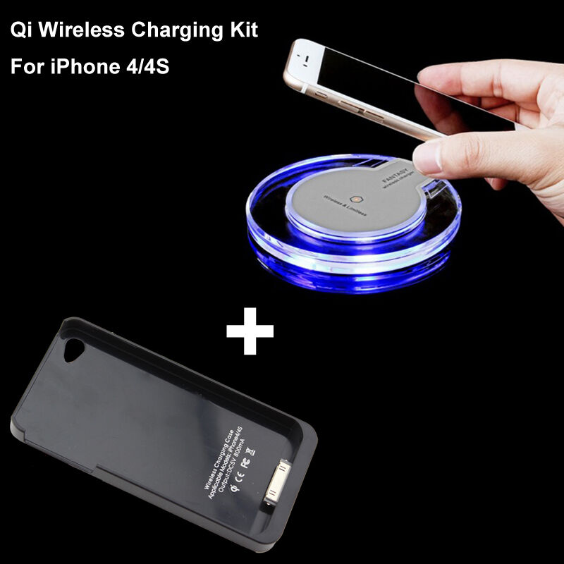 qi wireless power charger charging pad receiver case for. Black Bedroom Furniture Sets. Home Design Ideas
